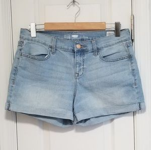Old Navy Distressed cuffed denim shorts